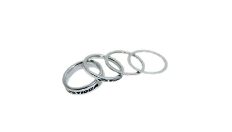 Espaçador Tioga Alumínio NC Para Caixa de Direção Std 1, 2, 4, 8mm Prata