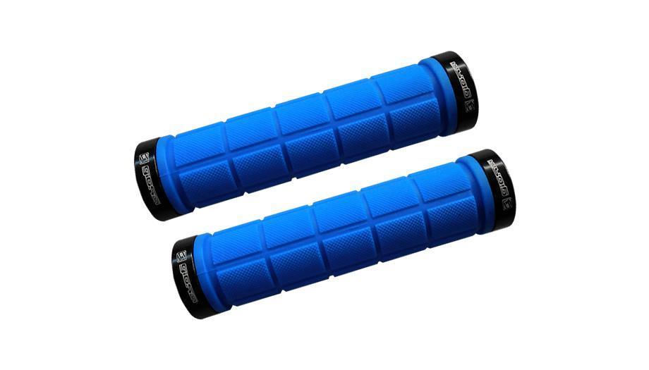 Manopla Giosbr MTB GI-155A 130mm Azul Com Duas Braçadeiras Preto