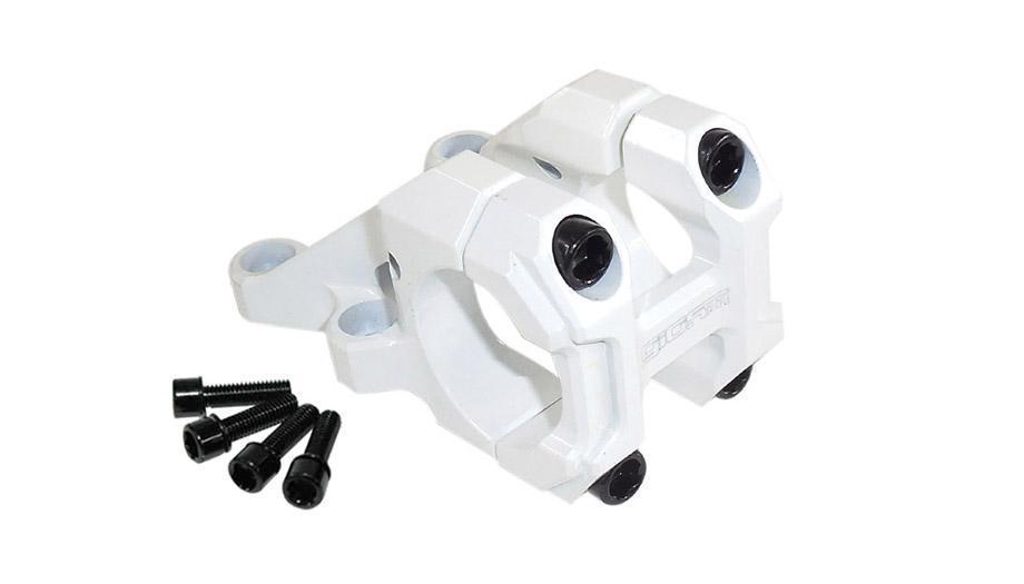 Suporte Guidão Giosbr Alumínio CNC BOXER-02 50mm Para Guidão 31.8mm Branco